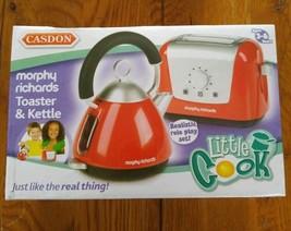 Little Cooks Toaster & Kettle Set Casdon Morphy Richards Red Childs Pretend