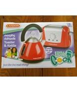 Little Cooks Toaster & Kettle Set Casdon Morphy Richards Red Childs Pretend - $14.59