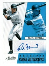 2019 Panini Absolute Rosell Herrera RC Autograph Baseball Card Marlins A... - $3.00