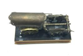 Vintage Wood Metal Wagon Wind Up Music Lullaby Jewelry Stash Box Western Decor image 2
