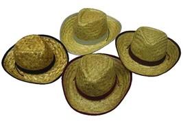 6 KIDS STRAW ZIG ZAG COWBOY HATS childrens #116 caps country western cow... - $22.51