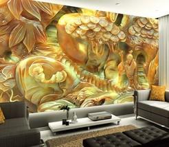 3D Gelb, Jade Werke 56766 Fototapeten Wandbild Fototapete BildTapete FamilieDE - $52.21+