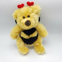 "Russ Berrie Breezy Bee Teddy Bear Plush Toy Valentine Heart Antenna 10"" ... - $12.00"