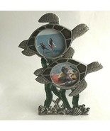 "Turtle Picture-Frame Pewter Double Photos 1.5X1.5"" w/glass Frame 6X4"" Be... - $17.18"