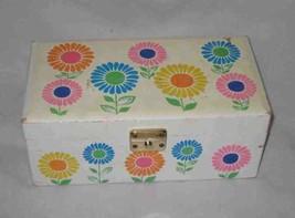 "Great Vintage 9"" X 5"" Mod Flower Japan Music Box Ballerina Dancing - $59.80"