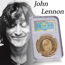 WR The Beatles John Lennon Gold Coin In Slab 25th Anniversary Rock & Pop... - $6.12