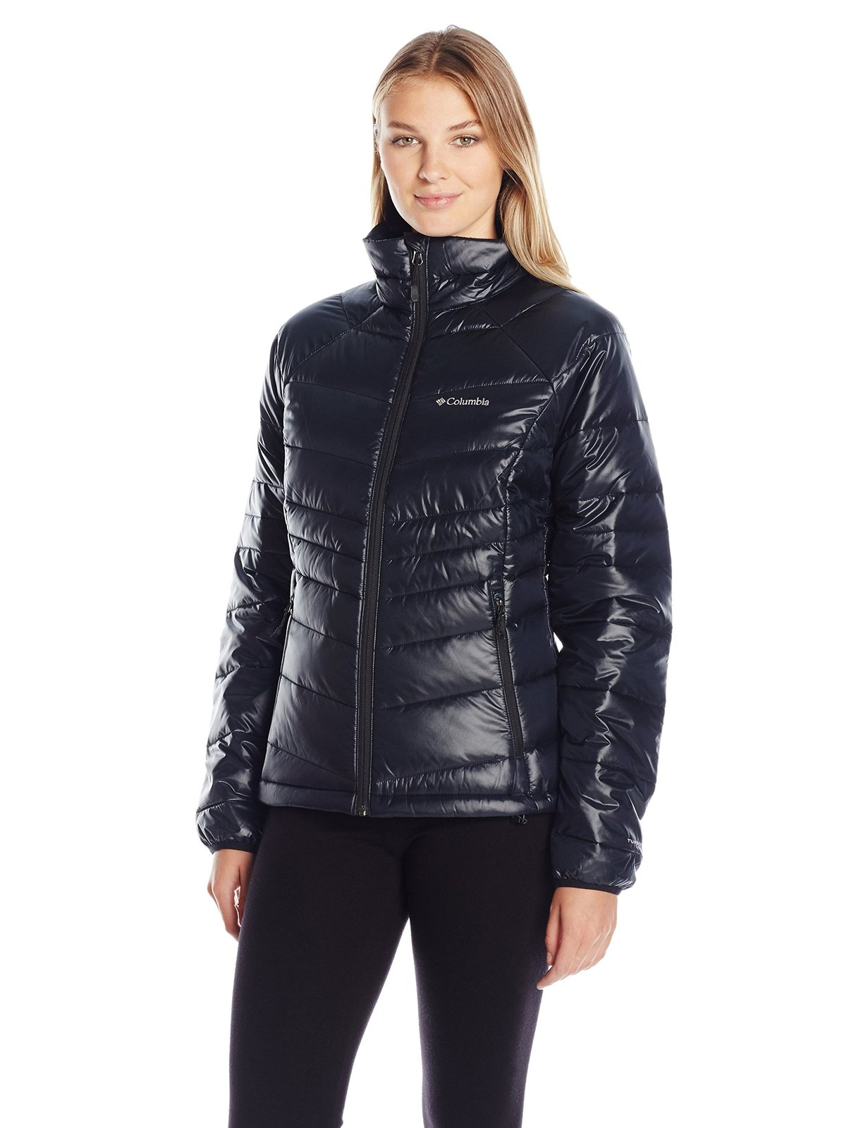 Columbia Women's Gold 650 TurboDown Radial Down Jacket, X-Small, Black