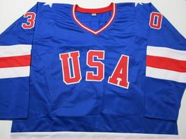 JIM CRAIG / GOLD MEDAL WINNER / AUTOGRAPHED TEAM USA CUSTOM HOCKEY JERSEY / COA image 2
