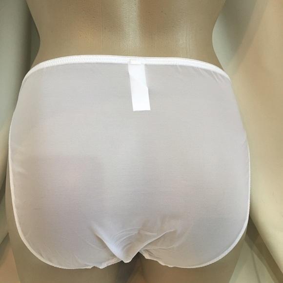 Felina White mesh Bikini panty 90089 NEW S or M