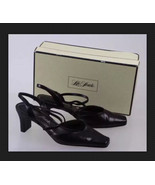 """LifeStride """"Sally"""" Black Faux Leather Square Toe Crossover Slingback Pum... - $12.00"""