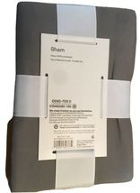 "NEW Room Essentials Pillow Sham Gray Standard Size 20"" x 26"" image 3"