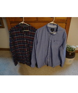 2 mens long sleeve button up shirts size xxl  /AE /Old navy - $13.33