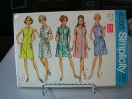 Simplicity 8285 Misses Front Zip Dress Pattern - Size 14 Bust 36 - $7.91