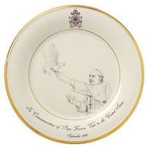 Lenox Pope Francis Commemorative Plate 2015 - $29.69