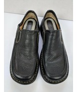 Born Womans Clog Shoes  Black Leather Size 6.5 M Low Back Loafers Comfor... - $29.95
