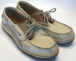 Sperry Top-Sider Men's Size 11 Khaki / Brown Leather Boat Shoes #0799965 - $19.55