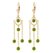 3 CTW 14K Solid Gold Paris Peridot Earrings Natural Gemstone Vintage Jewelry - $446.97