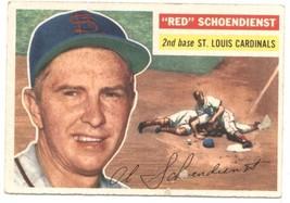 1956 Topps #165 Red Schoendienst Cardinals (Gray Back) EX Excellent  - $30.00