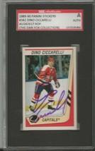 Dino Ciccarelli 1989 Panini Stickers Autograph #342 SGC Capitals - $55.98