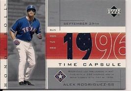 2002 Upper Deck Time Capsule Jersey - Alex Rodriguez (TC-AR1)  Texas Ran... - $5.00