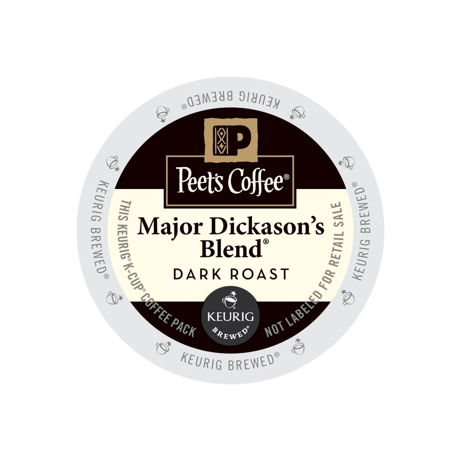 Peet's Coffee Major Dickason's Blend Coffee, 88 Kcups, FREE SHIPPING