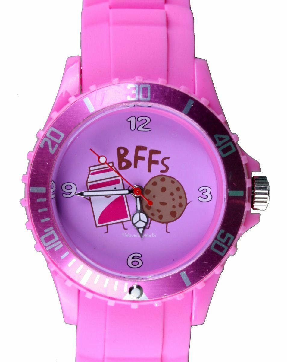David and Goliath Pink BFF Best Friends Forever Novelty Watch