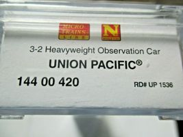 Micro-Trains #14400420 Union Pacific Heavyweight 3-2 Observation Car N-Scale image 5