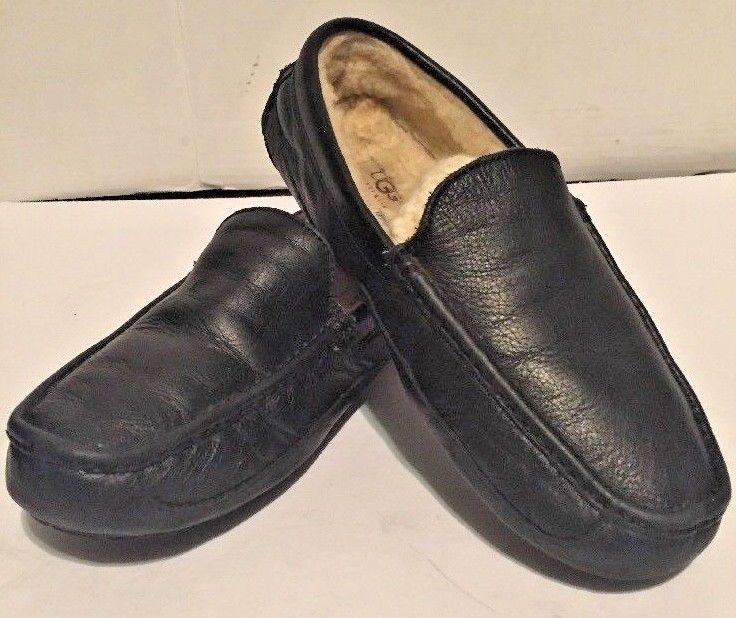 46c7549fb4b UGG Australia Ascot 5379 Black Leather Slip and 50 similar items