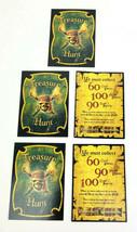 Pirates of the Caribbean DVD Treasure Hunt 2006 TREASURE HUNT CARDS (5)  - $7.99