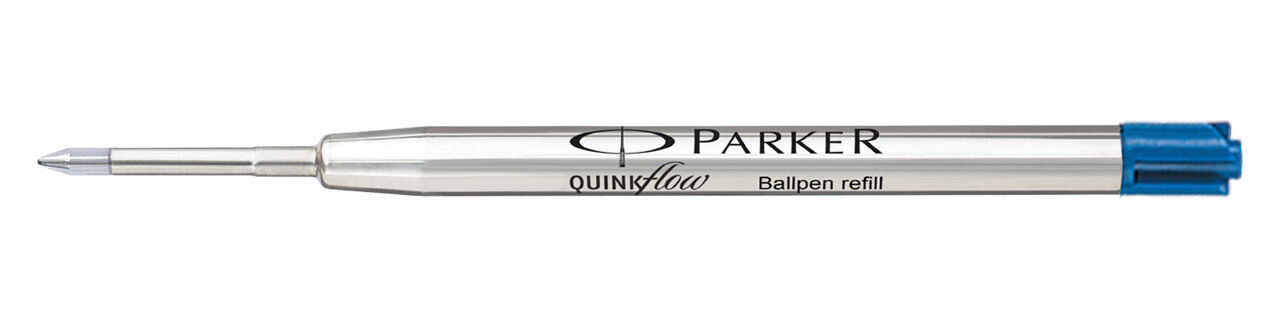 4 x Parker Quink Flow BallPoint Ball point Pen Refills BallPen Blue Fine New