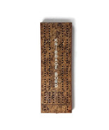 Vintage Hand Made Cribbage 2 Player Board Kribbage Bord Wooden Game Handmade - $9.89