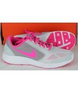 Nike Revolution 3 gs platinum gray pink kids size 6.5 Y - $31.42