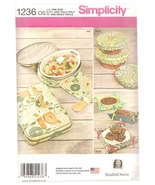 Casserole Carriers, Bowl Covers, Baskets Sewing Pattern Simplicity 1236 ... - $5.19