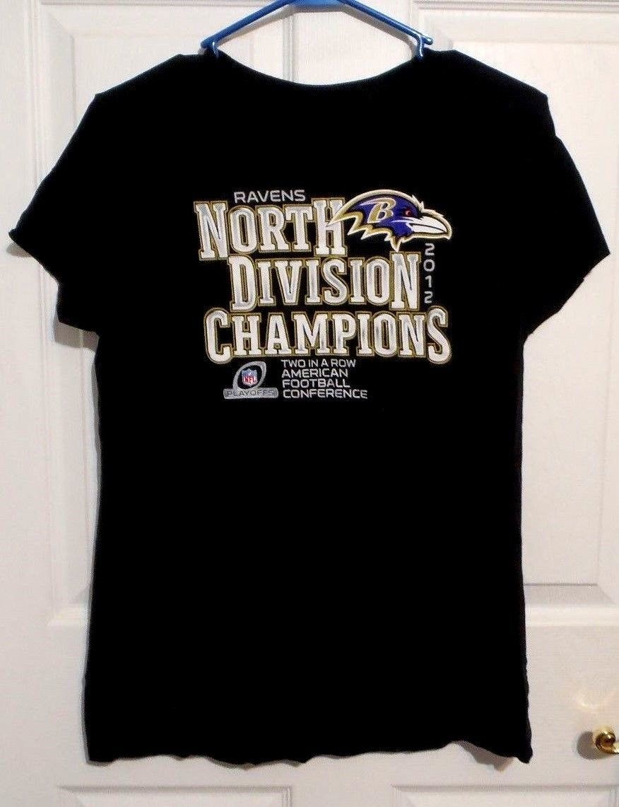 Primary image for Womens Sz XL Balimore Ravens North Division Champions Soft SS Tee Shirt T Shirt