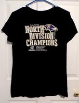 Womens Sz XL Balimore Ravens North Division Champions Soft SS Tee Shirt ... - $9.00