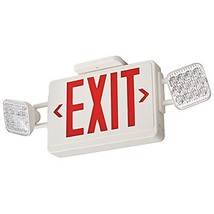 Lithonia Lighting ECRG HO RD M6 Thermoplastic LED exit/Unit Combo, red/Green swi - $103.36