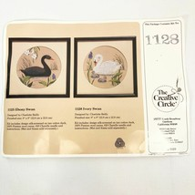 "9x9"" Ivory Swan Stitchery Kit 1128 Creative Circle 1987 Needlework Swan ... - $12.87"