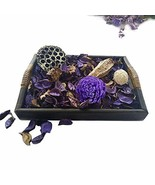 Qingbei Rina Gifts, Scent Potpourri Box, Including Flowers, Petal, Pinon... - $12.74