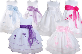 Baby Christening Dress Flower Girl Party Dress 3 6 9 12 18 24 Months - $21.48
