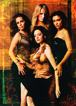 Alyssa Milano Holly Marie Combs teen magazine pinup clipping gold background