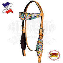 Hilason Western Horse Headstall Bridle American Leather  Fringes U-3-HS - $53.82