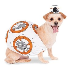 Official Rubie's Star Wars Bb-8 Pet Dog Costume, Size: X-small Neck To #hda - £22.05 GBP