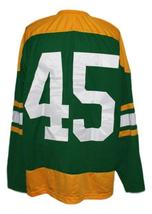 Any Name Number Toledo Buckeyes Retro Hockey Jersey New Green Any Size image 2