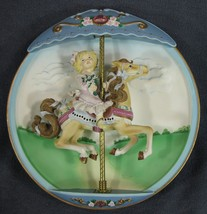 Victorian Reverie Collector Plate Carousel Daydreams 3-D Musical Animated - $39.95