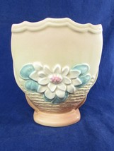 """Hull Art Water Lily L 6 ~ 6 1/2"""" Pillow Vase Vintage - $38.61"""