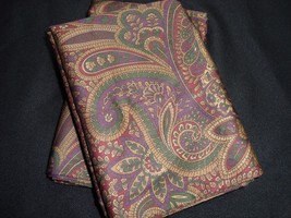 2 Standard Pillowcases Set two new Ralph Lauren  BOHEMIAN PAISLEY Fabric... - $68.69