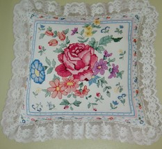 Something Special Rose Pillow Counted Cross Stitch Kit 50147 Candamar Design - $18.54