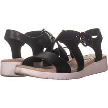Easy Spirit Sehelix Platform Sandals, Black Leather 666, Black Leather, ... - $29.75