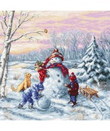 Counted Cross Stitch Embroidery Kit Happy Christmas - $43.83