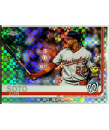 HOT X-FRACTOR!  JUAN SOTO ROOKIE TROPHY 2019 TOPPS CHROME #155 NATIONALS!! - $429.95